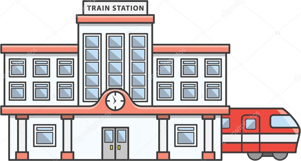 desenho de ilustra u00e7 u00e3o doodle de esta u00e7 u00e3o de trem vetor de Train Station Signs Train Station Signs