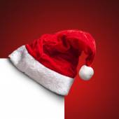 Single Santa Claus red hat — Stock Photo