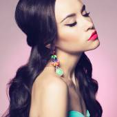 Lady with earring — Stockfoto