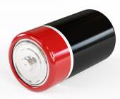 Battery on a white background it is isolated, clouse-up — Stock Photo