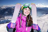 スキーヤー — ストック写真