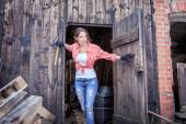 In the barn — Stock Photo