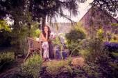 V zahradě — Stock fotografie