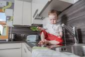 In the kitchen — Stock Photo