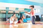 Pilates and yoga — Stock Photo