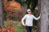 Jogging by the lake — Stock Photo