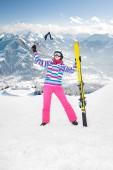 Alpin girl — Stock Photo