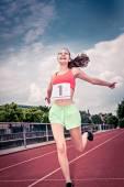 Woman athlete running — Foto de Stock