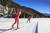 クロスカントリー スキーヤー — ストック写真