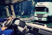 Truck cockpit — Stock Photo