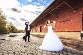 Wedding golf — Stock Photo