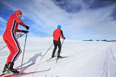 Cross-country skiers — Stock Photo