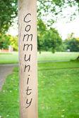 Sinal de comunidade — Fotografia Stock