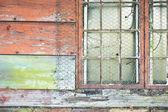 Old barn window — Stock Photo