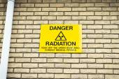 Radiation warning — Stock Photo