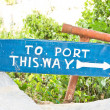 Port sign — Stock Photo #61729897