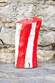 Red and white log — Stock Photo
