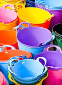 Colorful tubs — Stock Photo