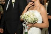 Bride and groom -  selective focus — Stock Photo