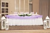 Tabela zestaw zdarzeń strony lub wesele — Zdjęcie stockowe