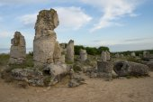 Pobiti kamani - phenomenon rock formations in Bulgaria near Varna — Stock Photo
