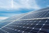 Photovoltaic panels - alternative electricity source — 图库照片