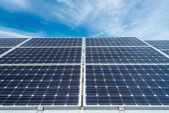 Photovoltaik-Module - alternative Strom Quelle — Stockfoto