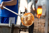 Handmade figures of melted glass — Stock Photo