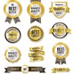 Golden Vector Commercial Labels — Stock Vector #51960215
