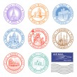 Vector Travel stamps — Stock Vector #53658685