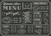 Шаблон меню Ресторан доске — Cтоковый вектор
