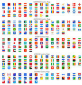 Rounded Square Vector National flag Icons — Stock Vector