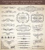 Vector Vintage Design Elements — Stock Vector