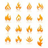 Fire vector icons — Stock Vector