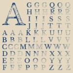 Постер, плакат: Classical Typografy Vector Grunge Characters