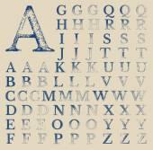 Classical Typografy Vector Grunge Characters — Stock Vector