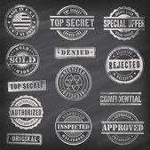 Chalkboard Vector Commercial Stamps — Stock Vector