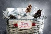 Cesta de navidad — Foto de Stock