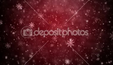 Winter Christmas background — Stock Video