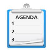 Agenda — Stock Vector