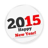 Happy New Year 2015 Sticker — Stock Vector