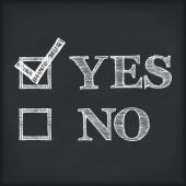 Yes And No — 图库矢量图片
