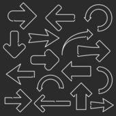 Line Arrows — Stock Vector