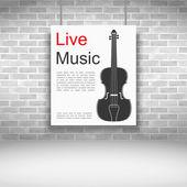 Canlı müzik — Stok Vektör