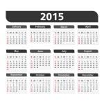 2015 takvim — Stok Vektör #54661401