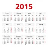 2015 kalender — Stockvektor