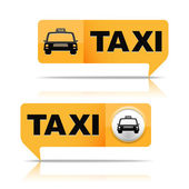 Taxi Banners — Stock Vector