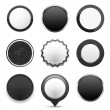 Black Buttons — Stock Vector #55665329
