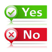 Yes and No Banners — Stock Vector