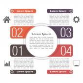 Cirkel infographics mall — Stockvektor